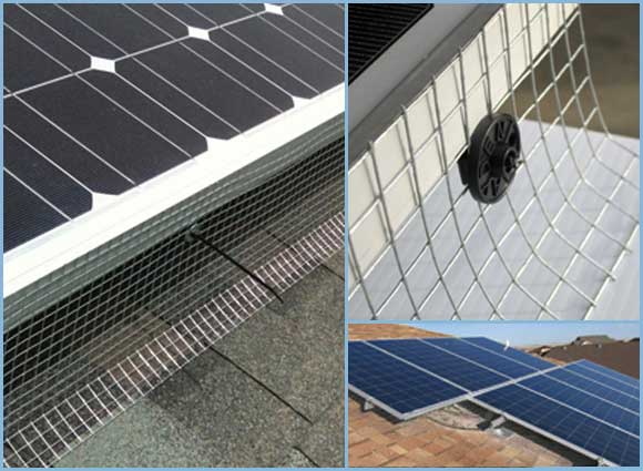 30m Solar Panel Bird Exclusion Kit Galvanized Mesh