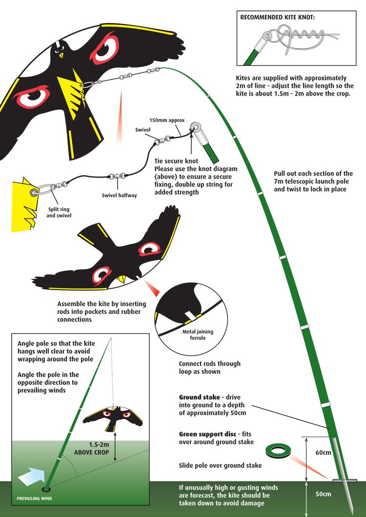 Portek Terror Kite Swooping And Diving Kite Crop Scaring