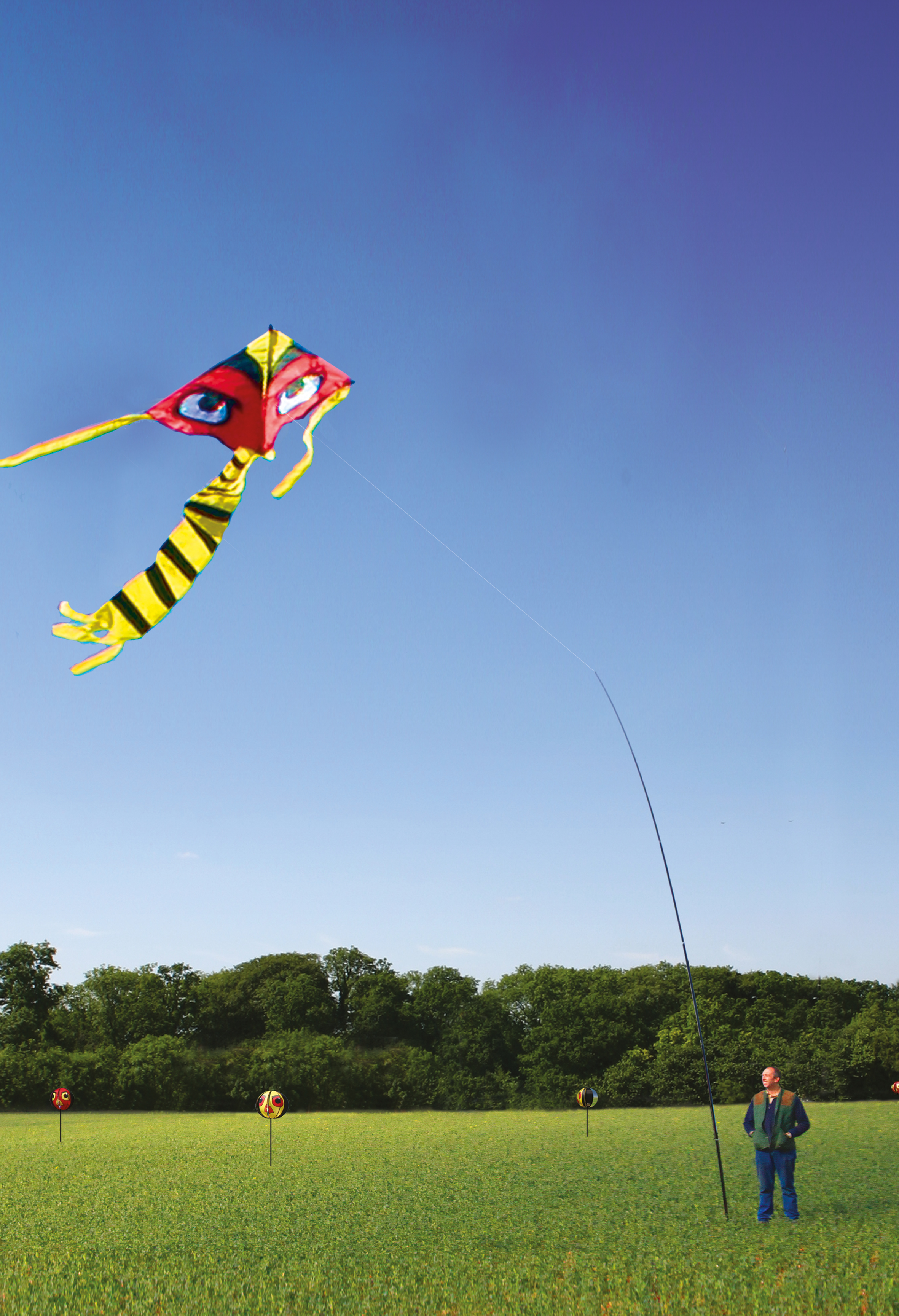 Portek Terror Kite Swooping And Diving Kite Crop Scaring