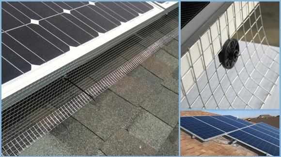 30m Solar Panel Bird Exclusion Kit Galvanized Mesh